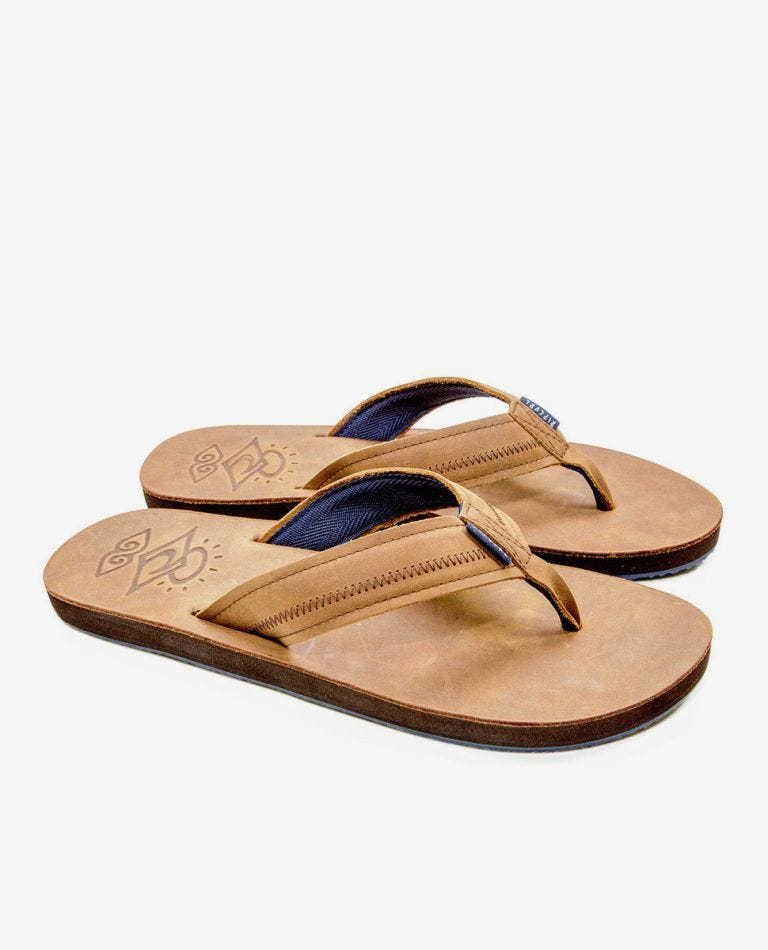 The Trestles Sandals in Brown/Blue