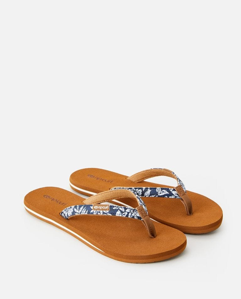 Freedom Sandals in Blue/White
