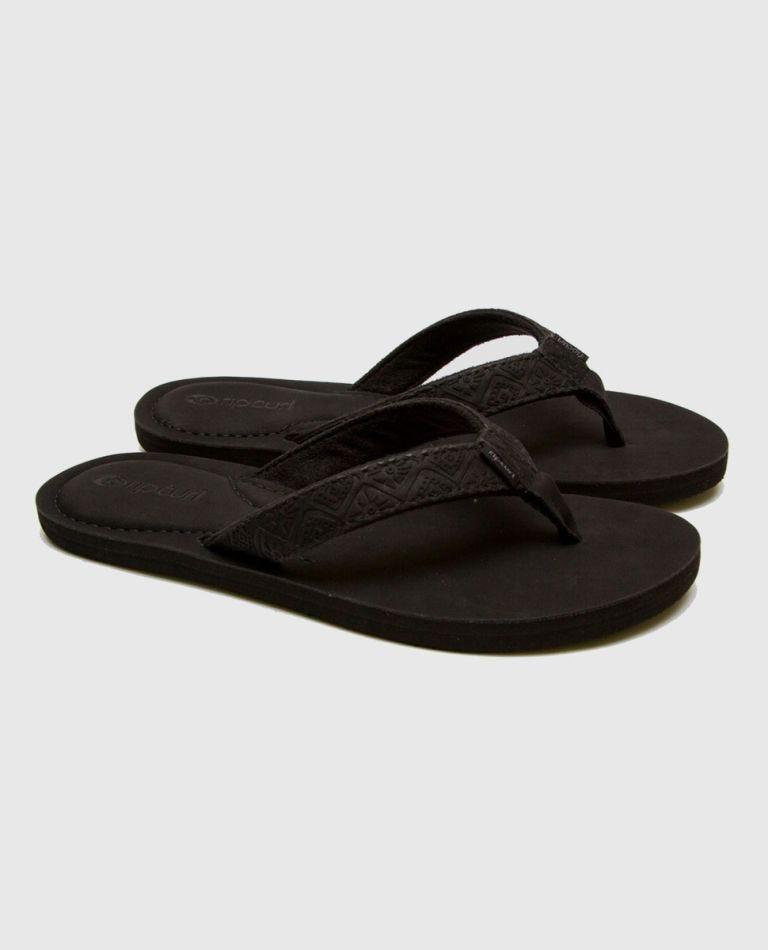 Offset Girls Sandals in Black/Black