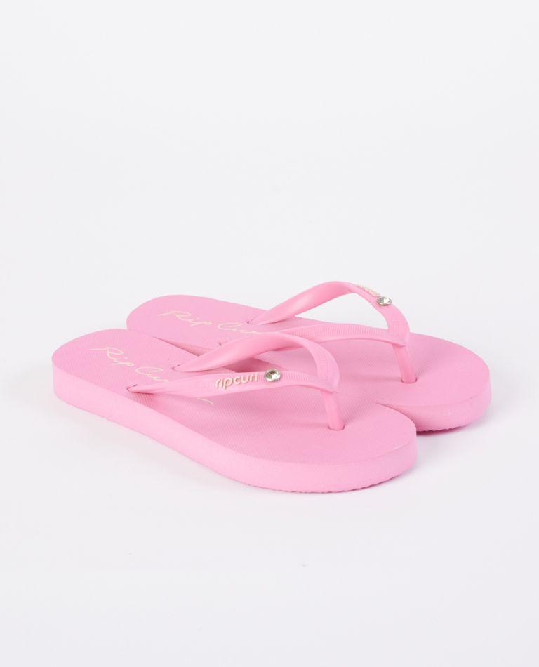 Script Waves Girls Thongs in Pink
