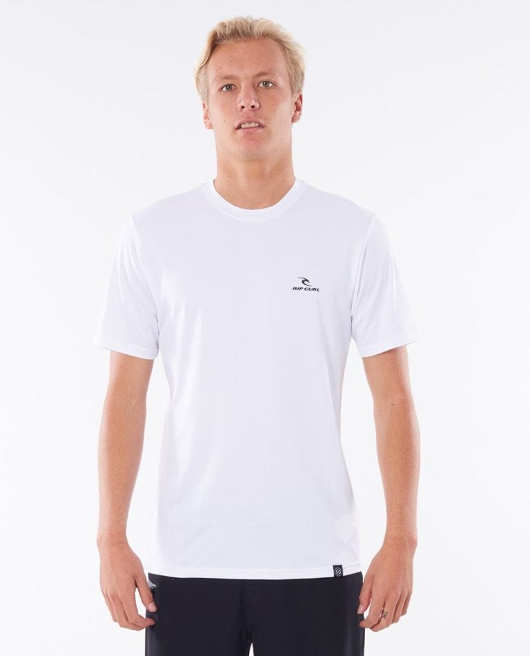 Search Series Short Sleeve Rash Guard in White