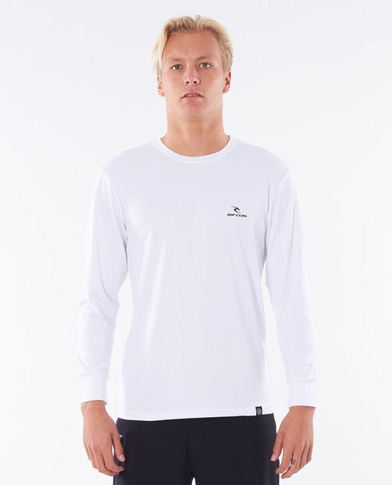 Search Series Loose Fit Rash Guard in White