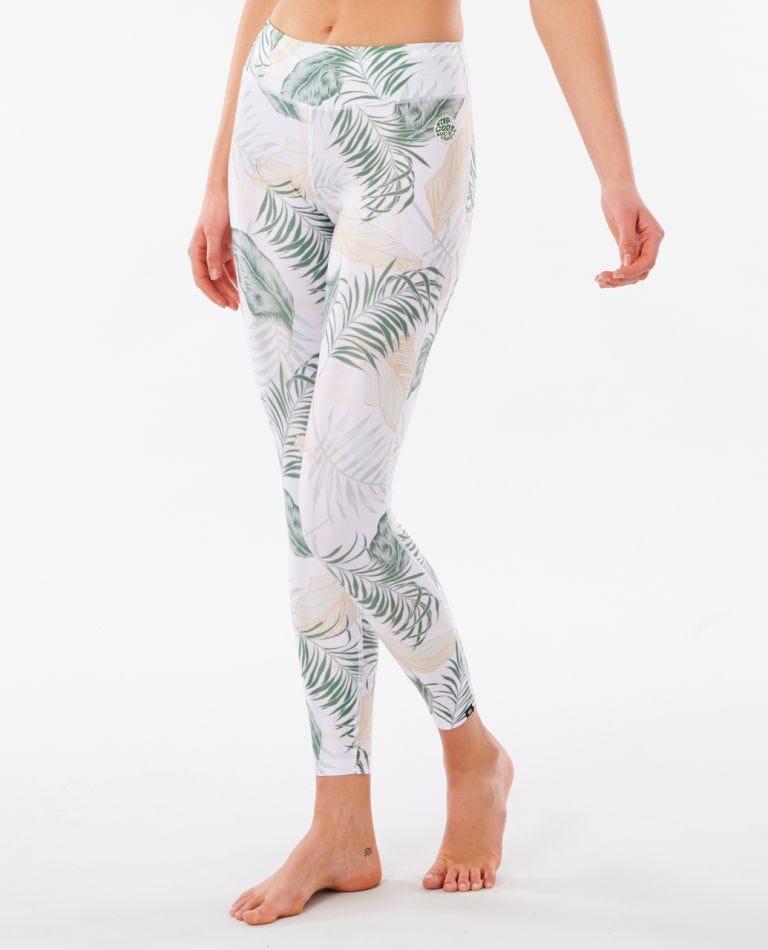Womens Coastal Palms UV Surf Pant in White