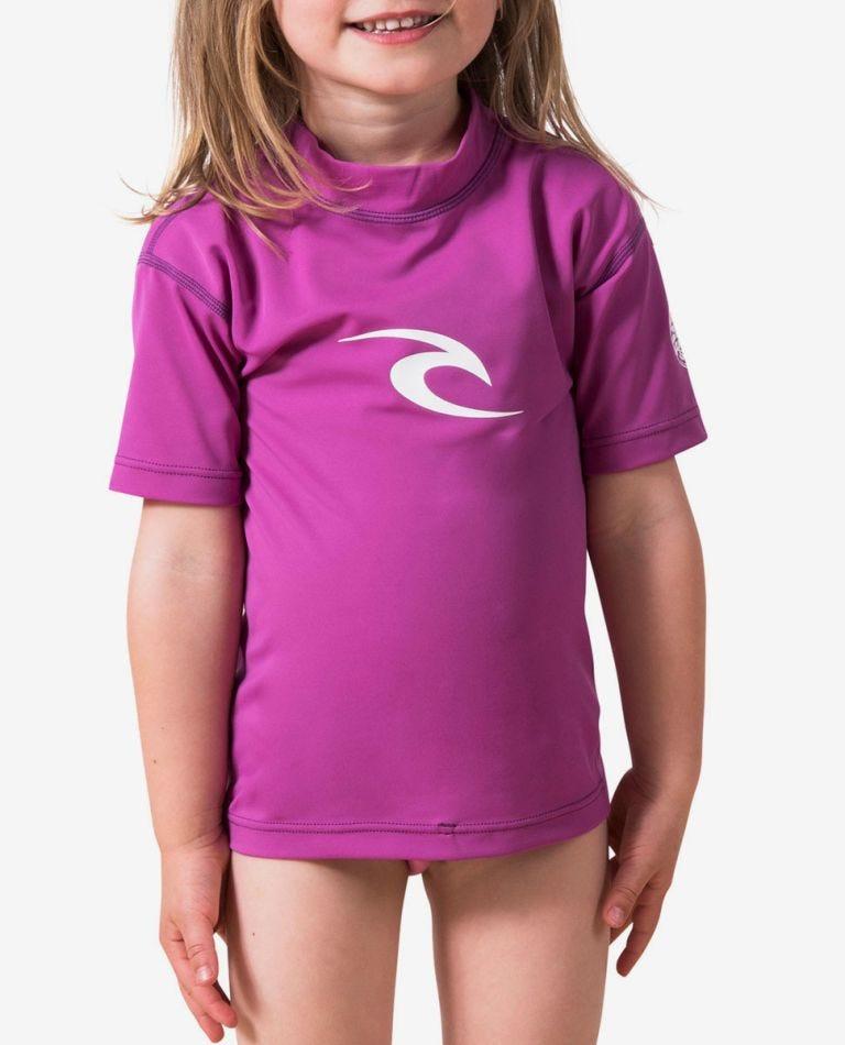 Grom Corpo Short Sleeve Rash Guard in Purple