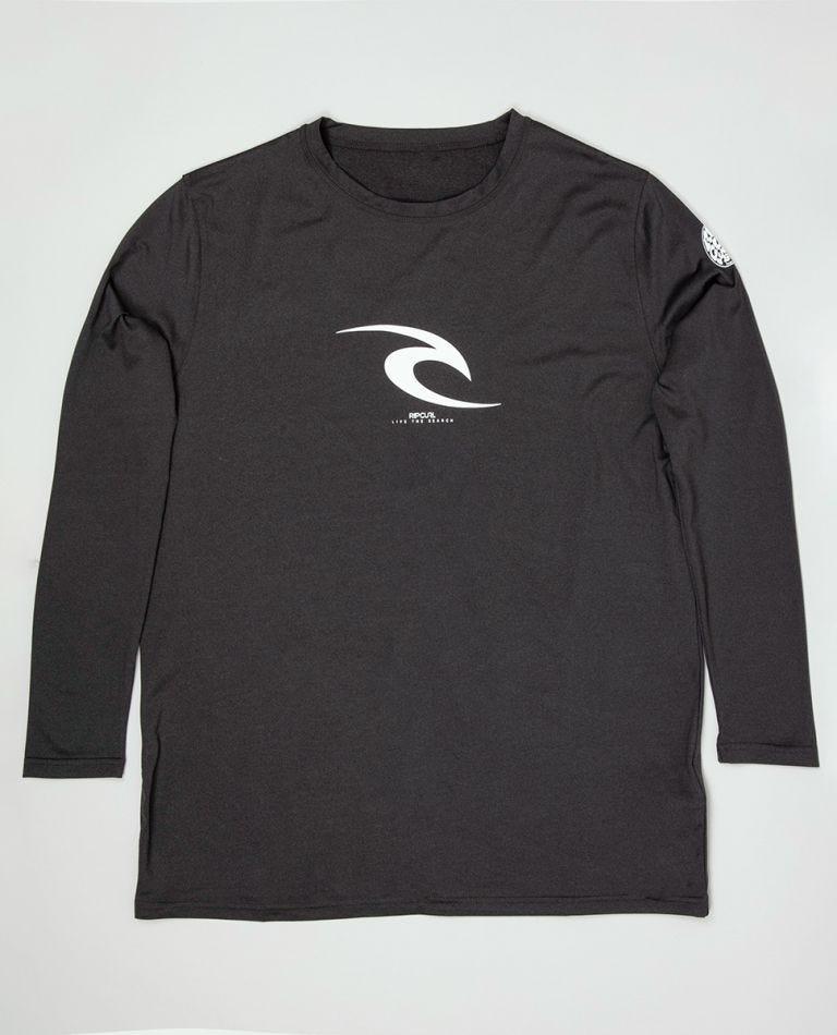 Icon Long Sleeve Surf Tee in Black Marle