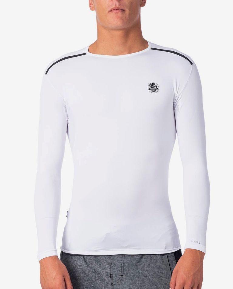 Tech Bomb Long Sleeve UV Tee Rash Vest in White