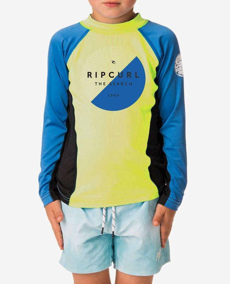 Grom Eclipse Long Sleeve UV Tee Rash Vest in Lime
