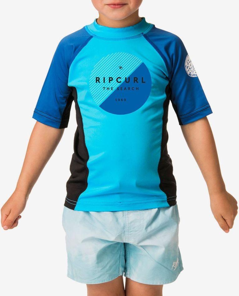 Grom Eclipse Short Sleeve UV Tee Rash Vest in Blue