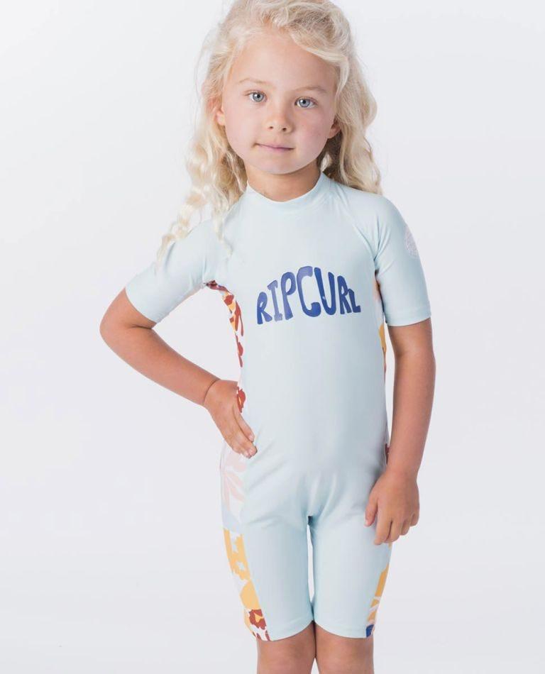 Mini Short Sleeve UV Spring Suit in Blue