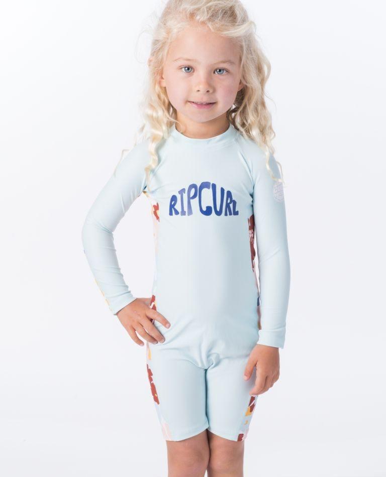 Mini Long Sleeve UV Spring Suit in Blue