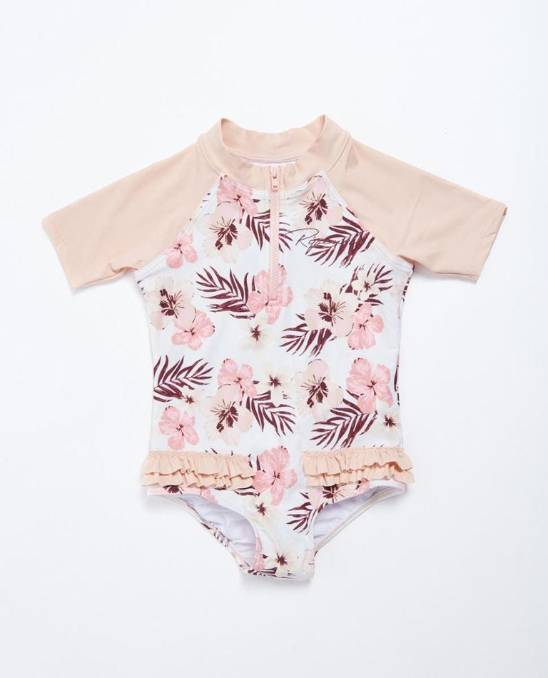 Tropic Short Sleeve Surf Suit Girls (0 - 6 years) in Pink