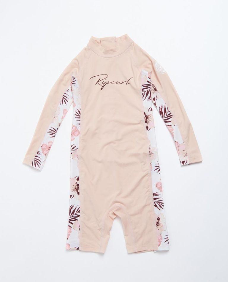 Long Sleeve UV Springsuit Girls (0 - 6 years) in Pink