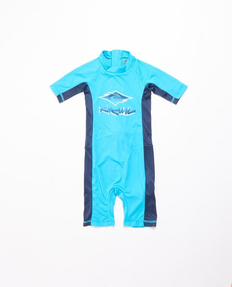 Short Sleeve UV Spring Suit Boys (0 - 6 years) in Blue