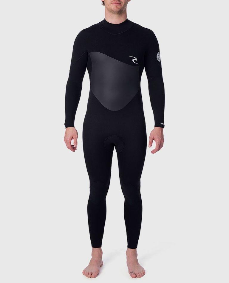 Omega 4/3 Back Zip Wetsuit in Black