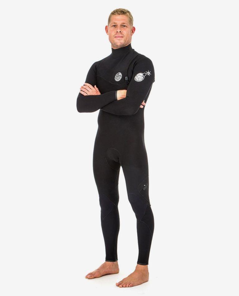 E-Bomb 4/3 Zip Free Wetsuit in Black