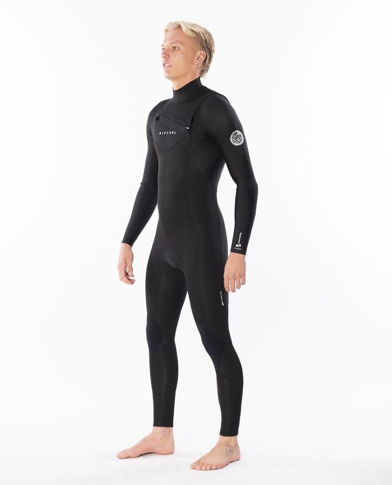 Dawn Patrol 3/2mm Chest Zip Wetsuit Steamer in Black