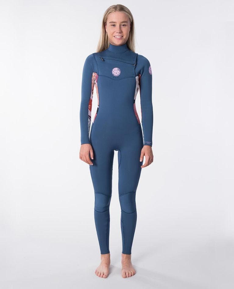 Womens Dawn Patrol 3/2 Chest Zip Wetsuit in Lilac