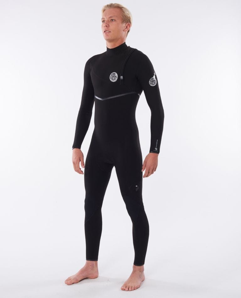 Flashbomb 4/3 Zip Free Wetsuit in Black