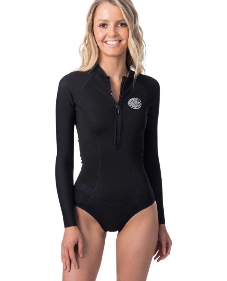G Bomb L/S Bikini Cut Springsuit in Black