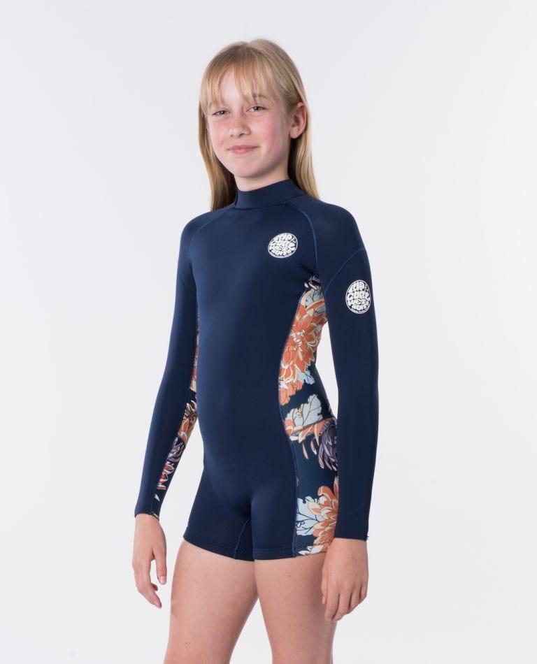 Junior Girl Dawn Patrol Long Sleeve Wetsuit Spring in Navy
