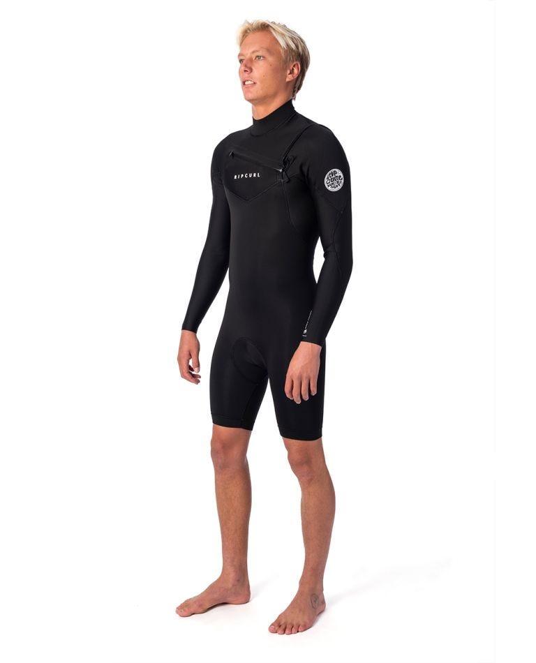 Dawn Patrol 2mm Long Sleeve Chest Zip Spring Suit in Black