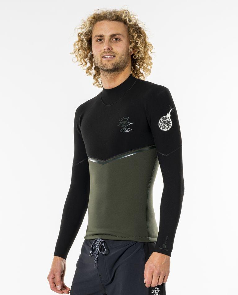 E-Bomb 1.5 mm GB Sealed Long Sleeve Wetsuit Jacket in Olive