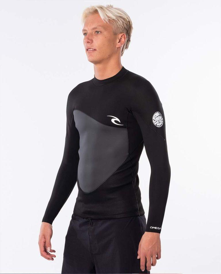 Omega 1.5mm Long Sleeve Jacket in Black