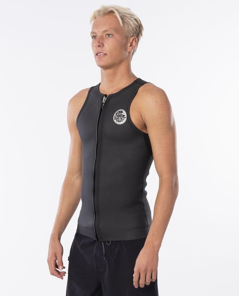 Dawn Patrol 1.5mm Sleeveless Wetsuit Vest in Black