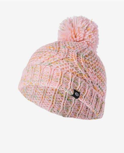 Mini Flecked Pom-Pom Beanie in Light Pink