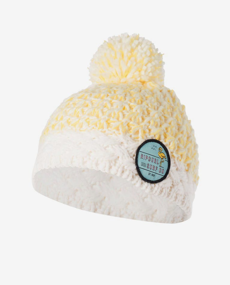 Mini Boston Pom-Pom Beanie in Bone