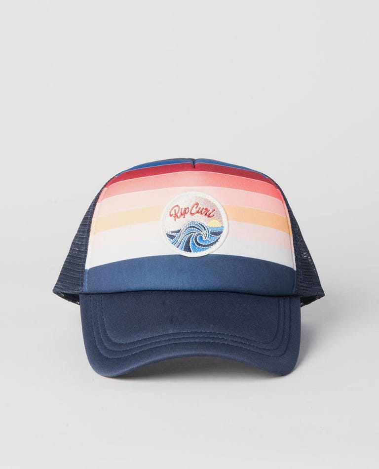 Mini Keep Surfin Trucker Cap in Dark Blue