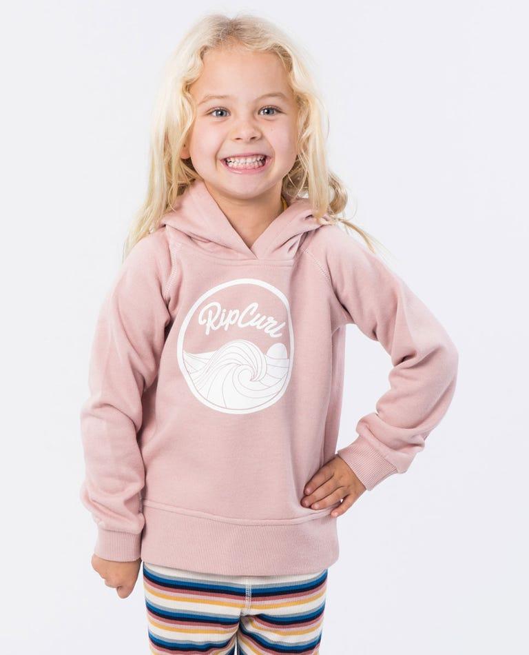Mini Keep On Hooded Jumper in Dusk Pink
