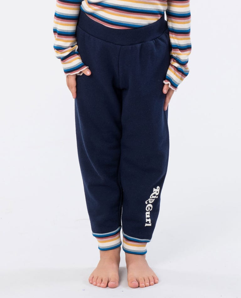 Mini Surfin Track Pant  in Navy