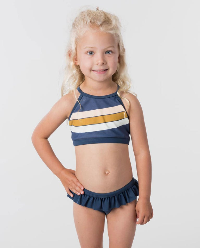 Mini Keep Surfin Bikini in Dark Blue
