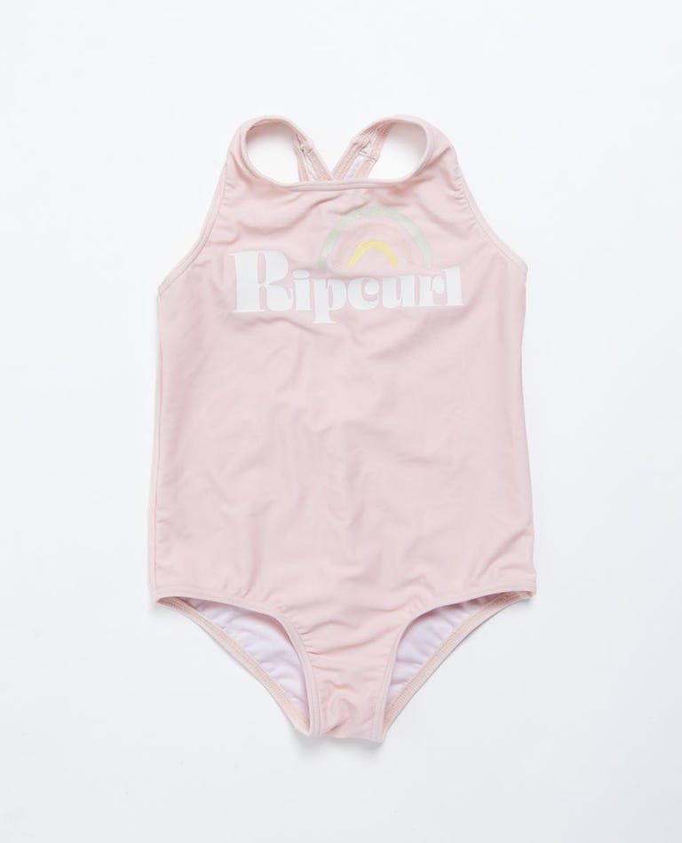 Surf Trip One Piece Swimsuit - Girls (0 - 7 years) in Light Pink