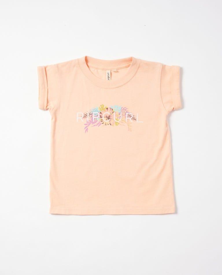 Paradise Logo Tee Girls (0-7 years) in Peach