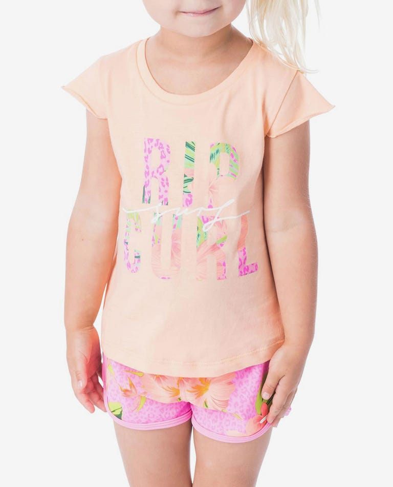 Mini Coco Sands Tee - Toddler Girls in Peach