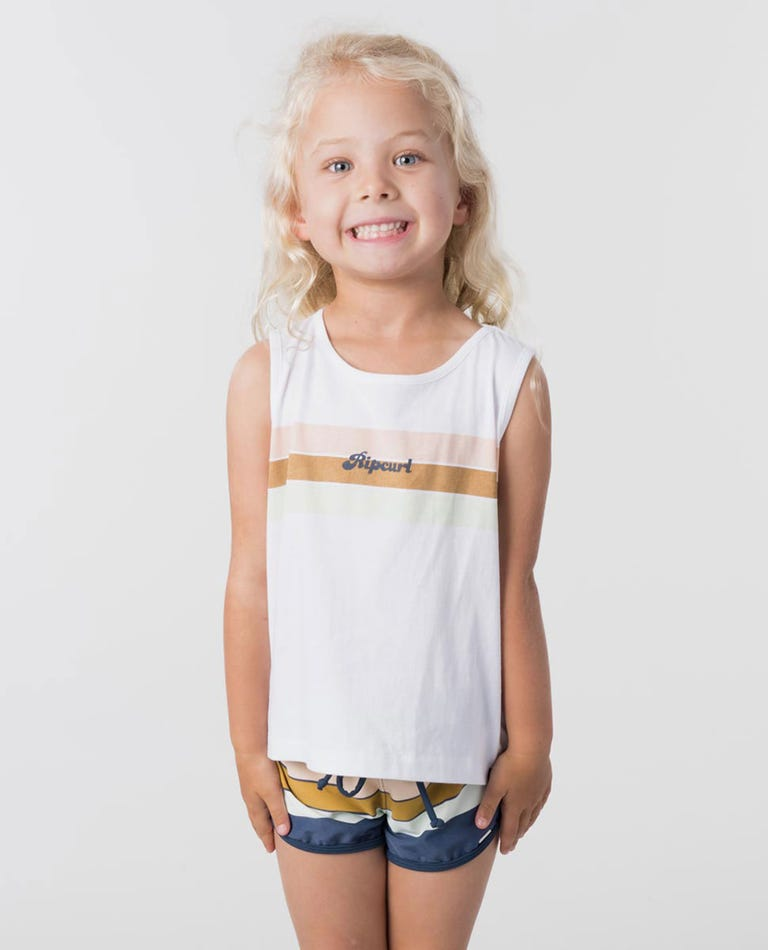 Mini Keep Surfin Muscle in White
