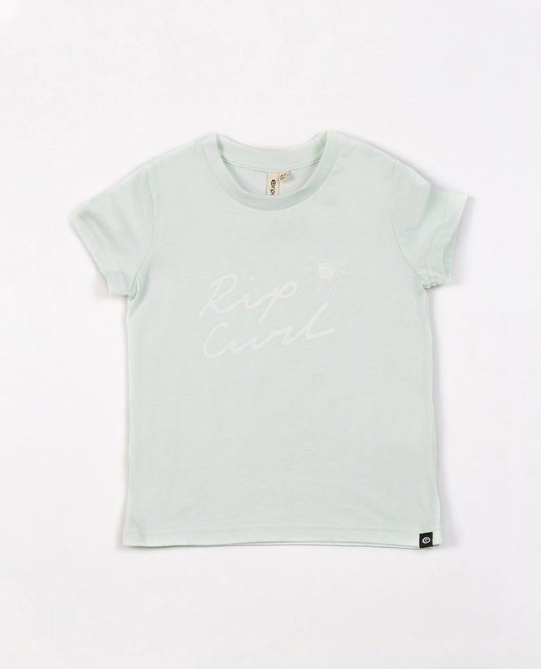 Sun Script Tee - Girls (0 - 7 years) in Mint