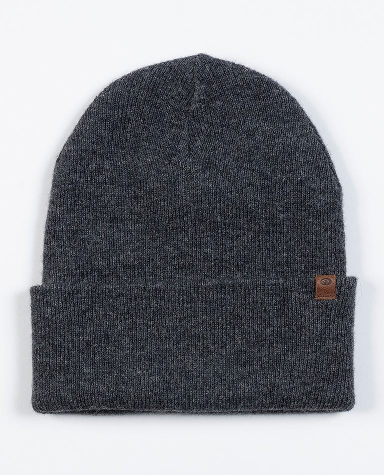 Altitude Wool Beanie in Charcoal Marle