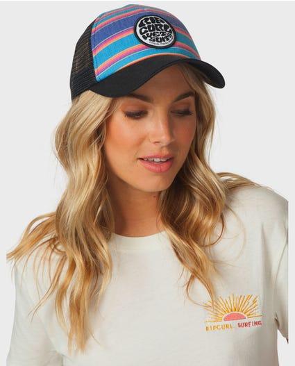 Golden Haze Trucker Hat in Multico