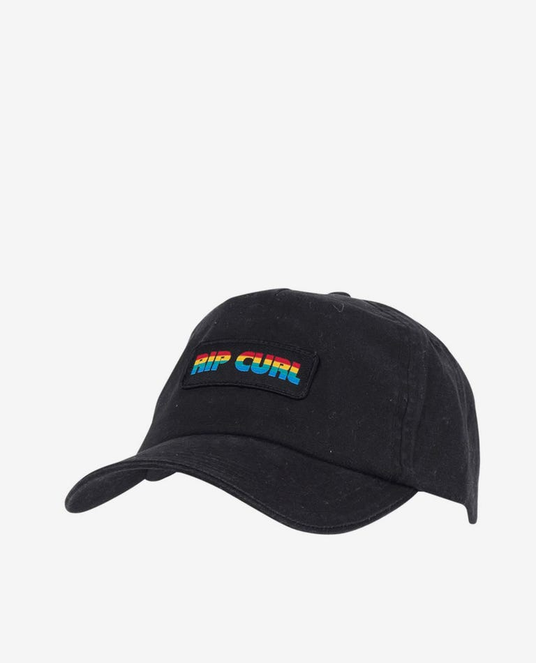 Washed Surf Lines Cap in Black