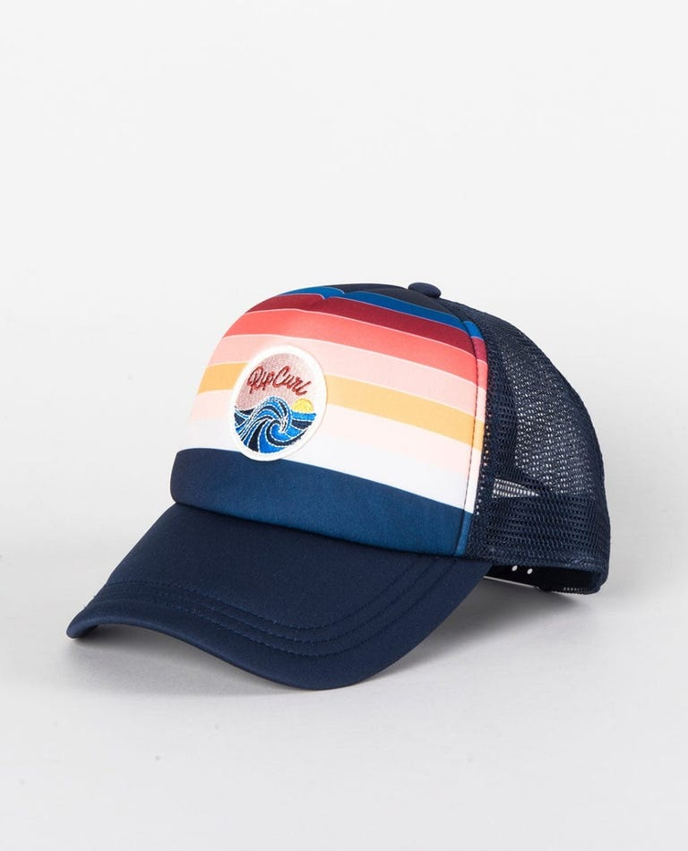 Keep On Surfin Trucker Hat in Navy