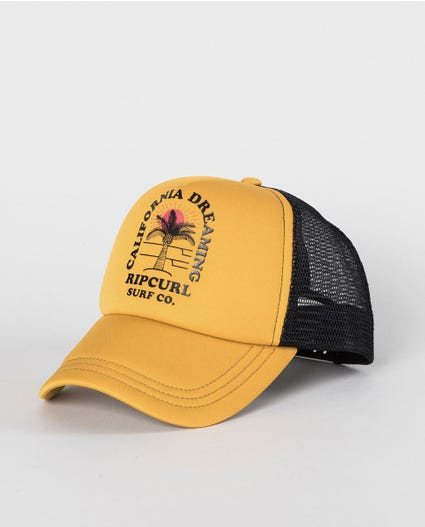 California Dream Trucker Cap in Mustard