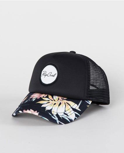 Playa Trucker Cap in Black