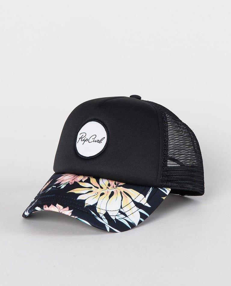 Playa Trucker Cap in Black