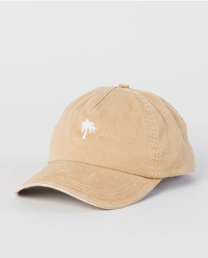 Washed Palm Vibes Cap in Mustard