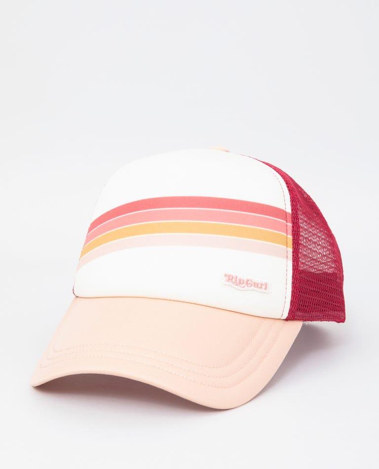 Sunshine Stripe Trucker  in Blush