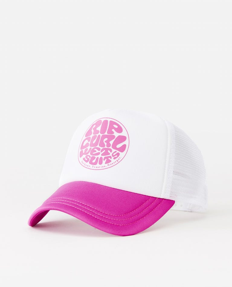 Surfers Essentials Trucker Cap in Pink