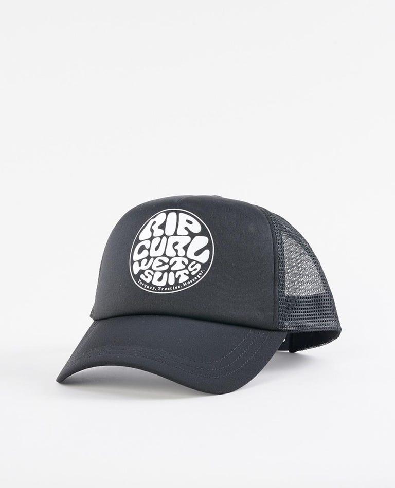 Surfers Essentials Trucker Cap in Black